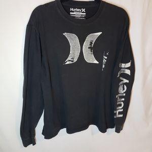 Hurley long sleeve vintage black shirt with sleeve